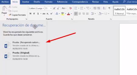 como recuperar un documento de word sin guardar