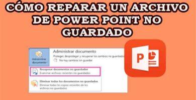 Cómo recuperar un archivo de Power Point no guardado
