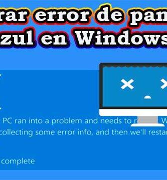 Cómo reparar el error de pantalla azul en Windows