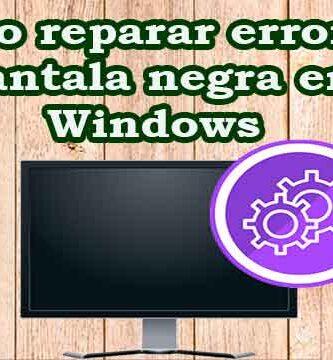 Cómo reparar pantalla negra con cursor en Windows