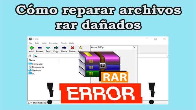 Cómo reparar un archivo rar dañado