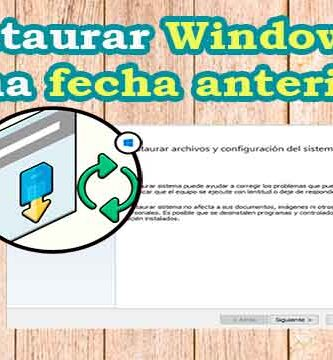 Cómo restaurar Windows a una fecha anterior