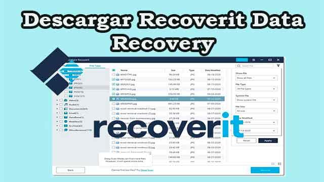 Descargar recoverit data recovery gratis