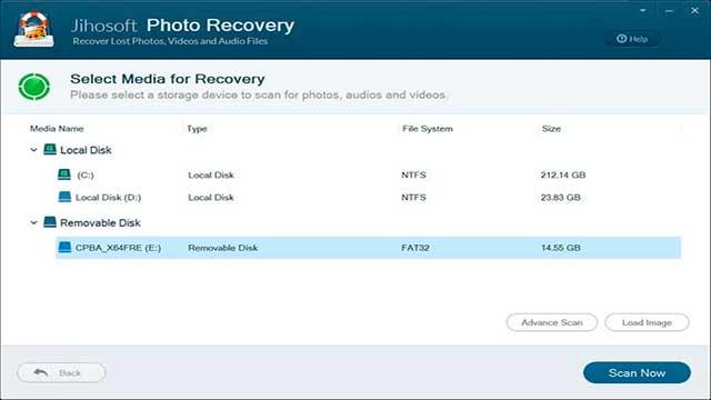 Jihosoft recuperador de fotos
