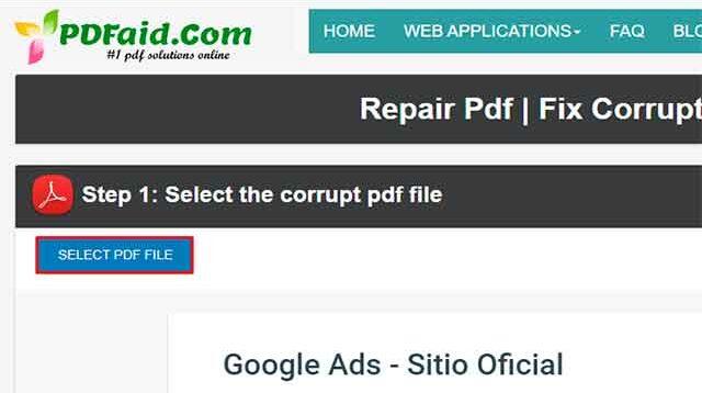 Reparar archivo PDF paso a paso