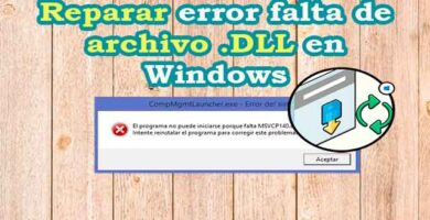 Reparar error falta de archivo DLL en Windows
