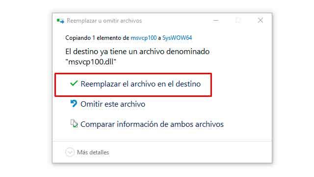 Reparar errores de archivos DLL