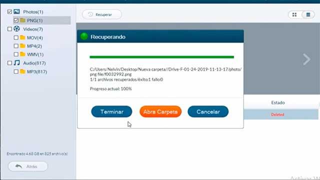 Seleccionar archivos recuperados con Jihosoft