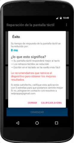 calibrar la pantalla de tu dispositivo android