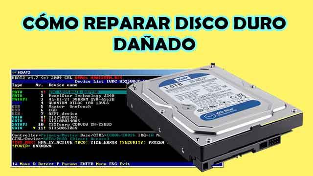 Cómo reparar disco duro