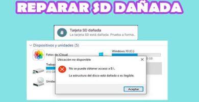 Cómo reparar una memoria SD dañada