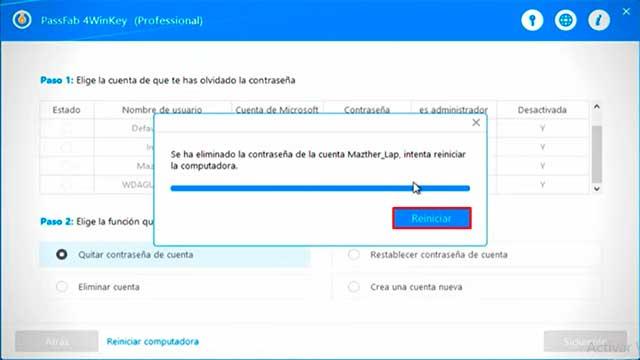 quitar contraseña de usuario en windows sin perder archivos