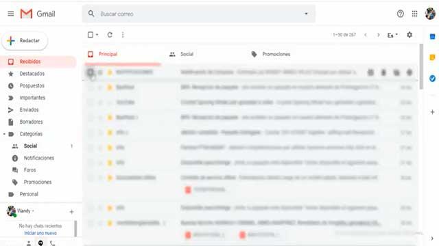 recuperar correos borrados gmail