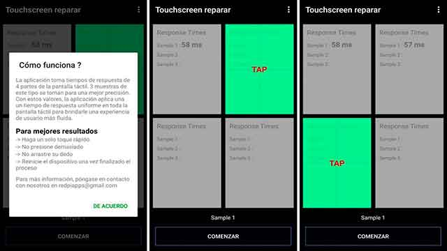 reparacion de pantalla tactil