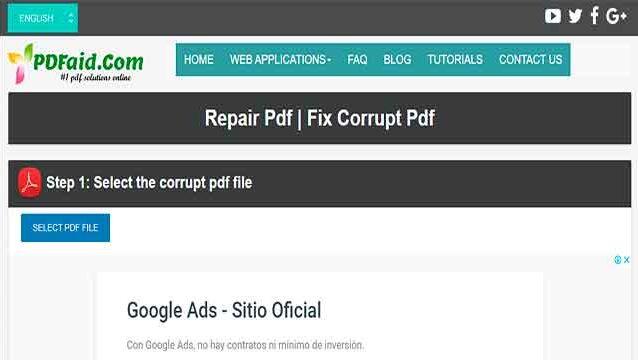 reparar cualquier archivo pdf dañado