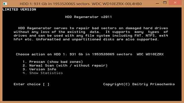 reparar los sectores defectuosos en un disco duro